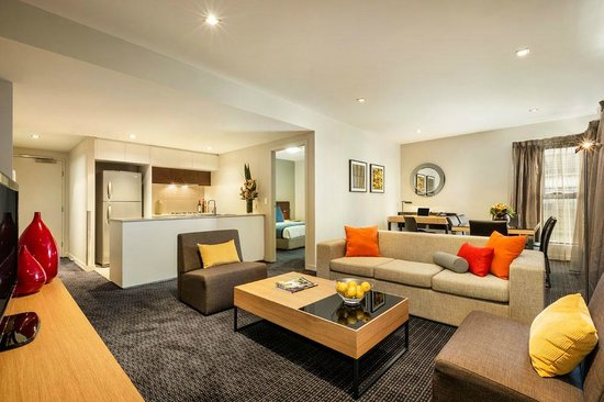 Quest Docklands: Two Bedroom Apartment, Open plan living area