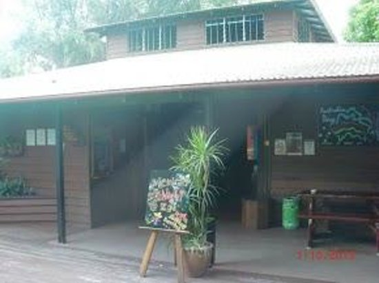 Dougies Backpackers Resort: Entrance to the common area