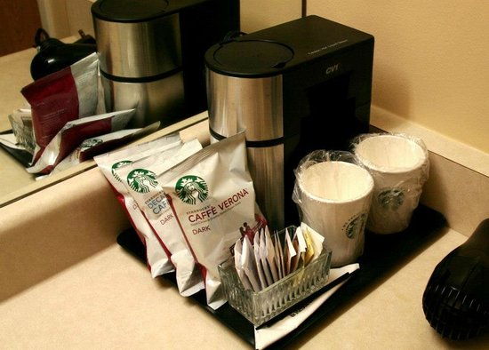 Coast Wenatchee Center Hotel:                   Starbucks what!