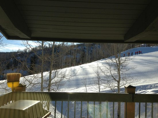 Top of the Village Condominiums:                   Ski IN/OUT view from Condo