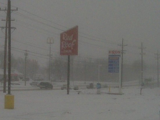 Red Roof Inn Hagerstown-Williamsport:                   Welcome sight In snow storm