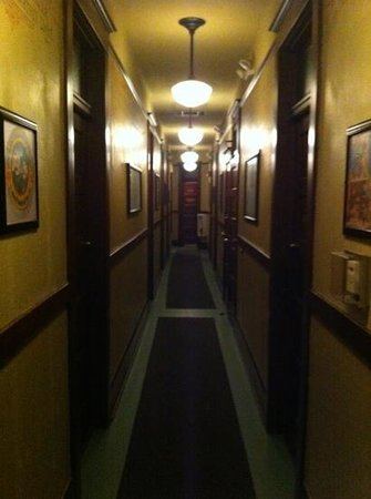 McMenamins White Eagle Saloon and Rock & Roll Hotel:                   white eagle hallway