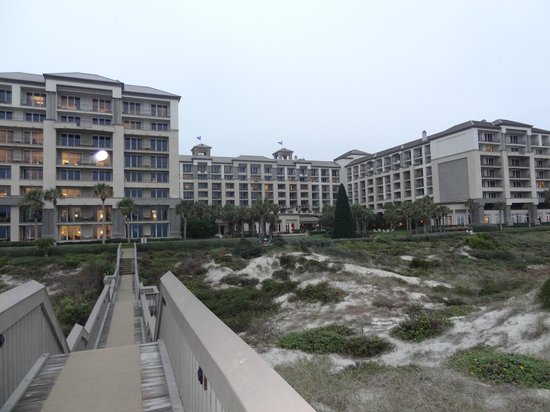 The Ritz-Carlton - Amelia Island:                   View of the hotel from the beach