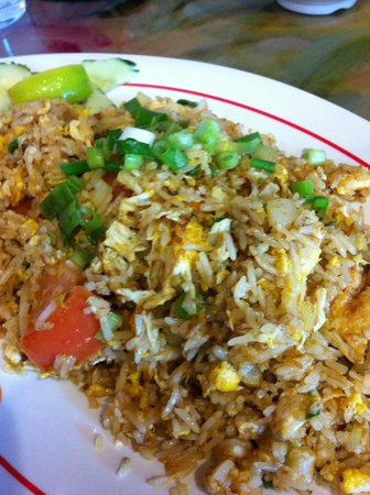 Fairfax, VA: Crab fried rice.
