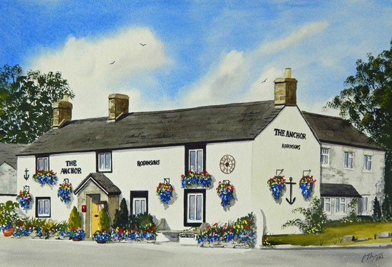 Tideswell, UK: Painting of the exterior