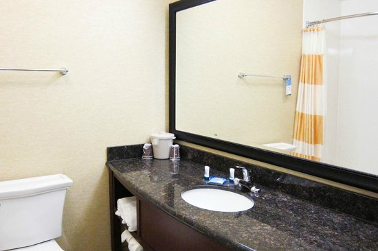 Fairfield Inn & Suites Steamboat Springs: Clean, somewhat updated bathroom
