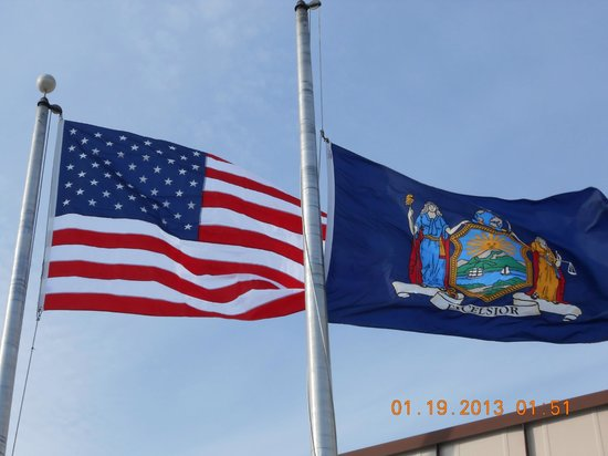 BEST WESTERN Albany Airport Inn:                                     Flying The American Flag to Honor us, Marine Corps League.