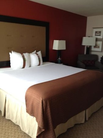 Holiday Inn Killeen-Fort Hood: accent wall and nice headboard