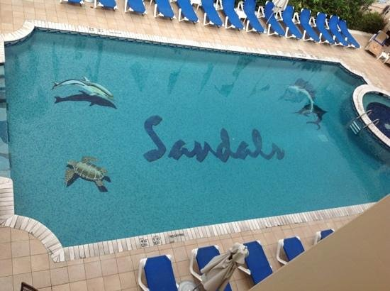 Sandals Carlyle Inn:                   the pool from above
