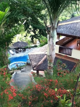 Tribal Hills Mountain Resort:                   view to the pool
