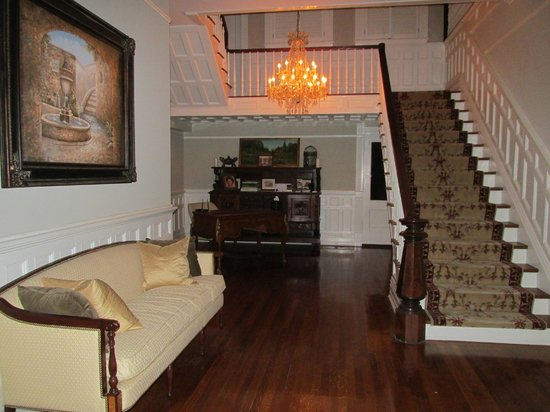 The Twelve Oaks Bed &amp; Breakfast:                   Main Foyer &amp; Stairs