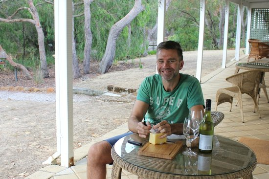 Llewellin's Guest House:                   Cheese and wine time.. Kimmy