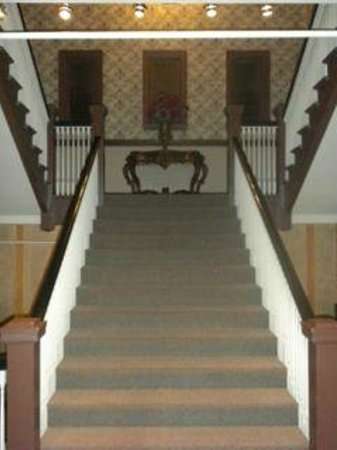 MarQueen Hotel:                   Staircase inside hotel (don't think there is an elevator?)