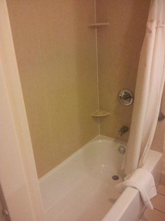 West Lafayette, IN: View of the toilet, tight shower