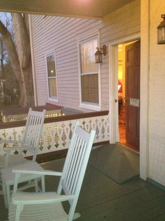 Hopkins Ordinary Bed & Breakfast:                   RELAXING - the porch to the Rosemary  Room