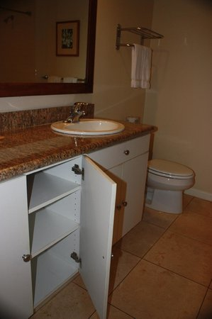 Aston Islander on the Beach: Bathroom vanity/cupboard.