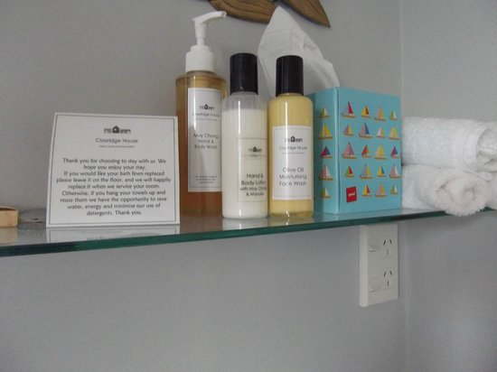 Clayridge House and Cottages:                   Lotions