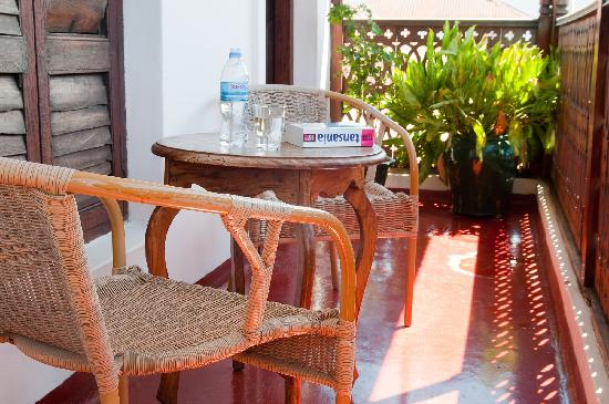 Zanzibar Palace Hotel: Suite Sultana - big private balcony perfect hideaway where you can overview the rooftops of Ston