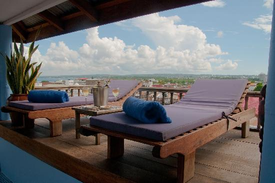Zanzibar Palace Hotel: Your own private sundeck overlooking Stone Town and the Indian Ocean.