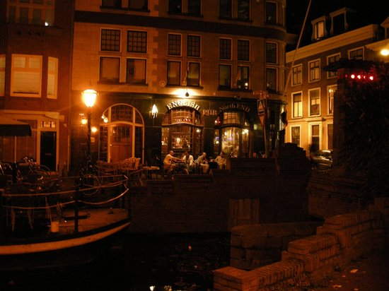 Hotel de Doelen:                   English pub opposite, with a canal to fall in if you miss the bridge home!