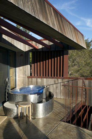 """Post Ranch Inn:                   hot tub on balcony, Upper Pacific Suite """"Gilkey"""""""