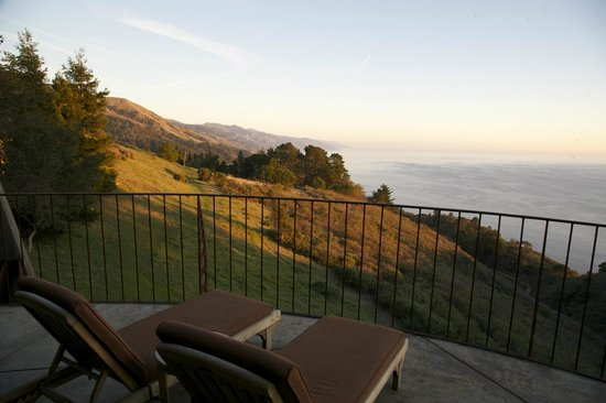 Post Ranch Inn:                   View to the south, Upper Pacific Suite