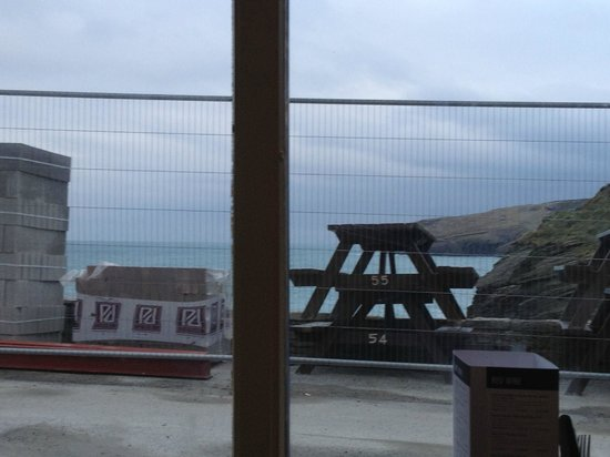Port William Inn:                   View from conservatory at breakfast