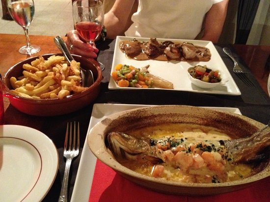 Axat, France:                   Incredible Menu - fresh, meticulously prepared and presented - not to be misse