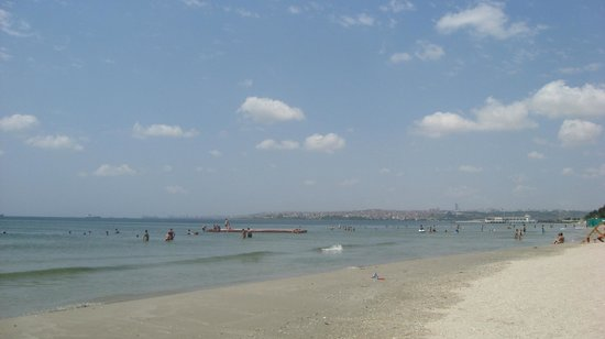 Istanbul swimming, beach Florya - Picture of Florya ...