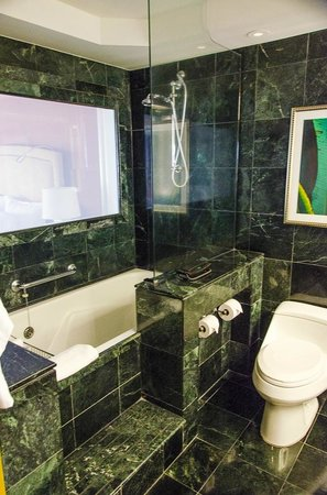 St. Regis Princeville Resort:                   Tub and shower area, our privacy wall stopped working