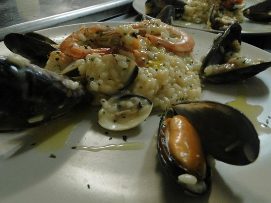 Platja d&#39;Es Figueral, Spain: risotto ai frutti di mare