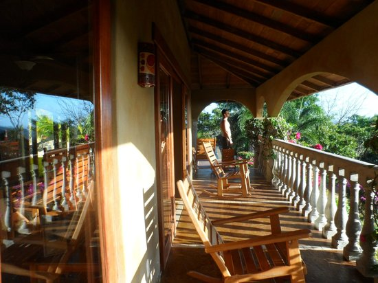 Finca Las Nubes:                   balcony perfect for reading or enjoying the view