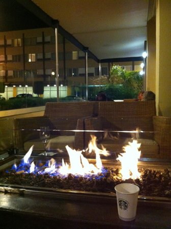 Sheraton Fisherman's Wharf Hotel: Outdoor Fireplace