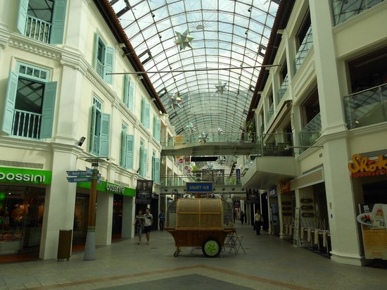 InterContinental Singapore:                   Bugis junction walkway and mall entrance
