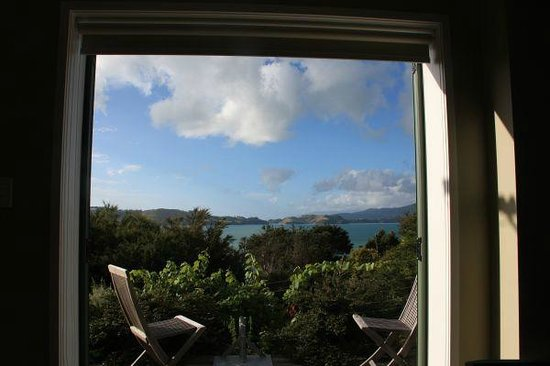 Te Kouma Bed and Breakfast: view from inside the room