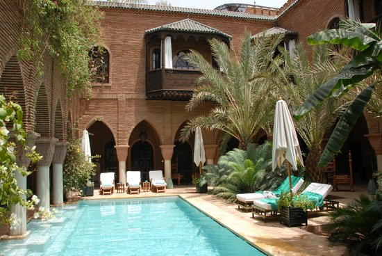 La Sultana Marrakech:                   poolside in center courtyard