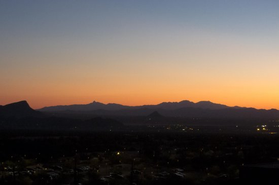 The Ritz-Carlton, Dove Mountain:                   view from room at sunset