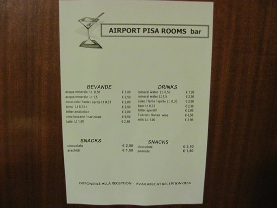 Airport Pisa Rooms: Non serve commentare