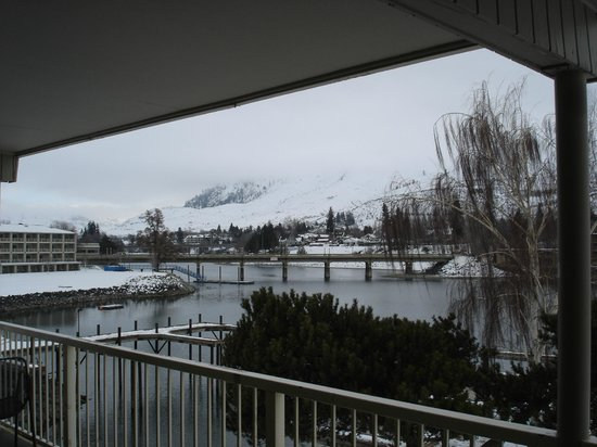 Campbell's Resort on Lake Chelan:                   Winter -View from the deck