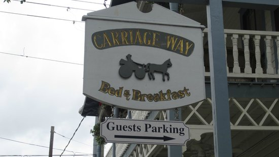Carriage Way Bed and Breakfast:                   Front Sign