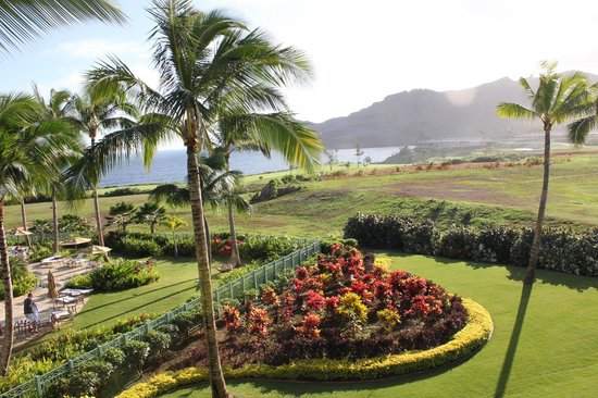 Kauai Lagoons Resort:                   view off balcony of ocean