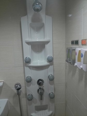 Kindness Hotel (Kaohsiung Main Station Front):                   Powerful Shower