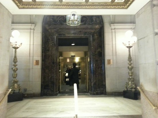 Entrance to the InterContinental New York Barclay