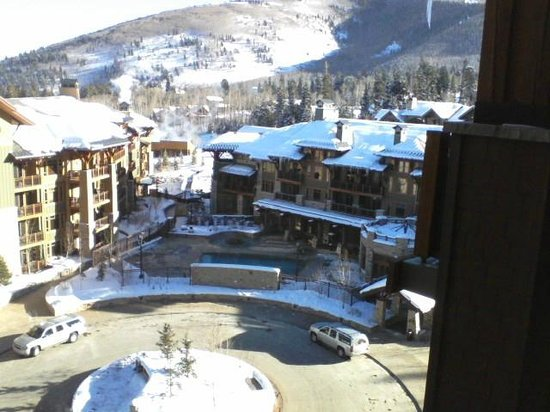 Hyatt Escala Lodge at Park City:                   View from balcony facing entrance courtyard