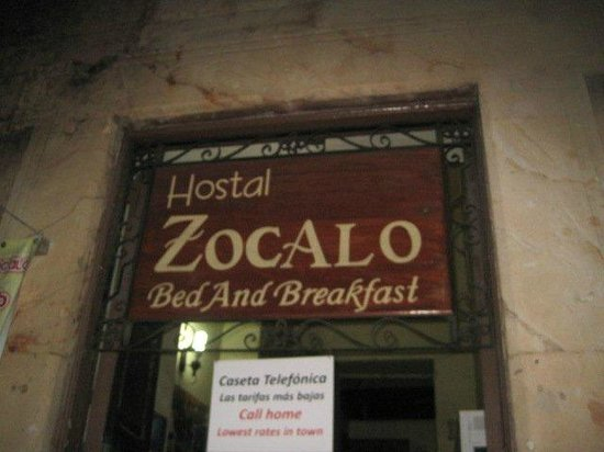 Hostal Zocalo: entrada!!