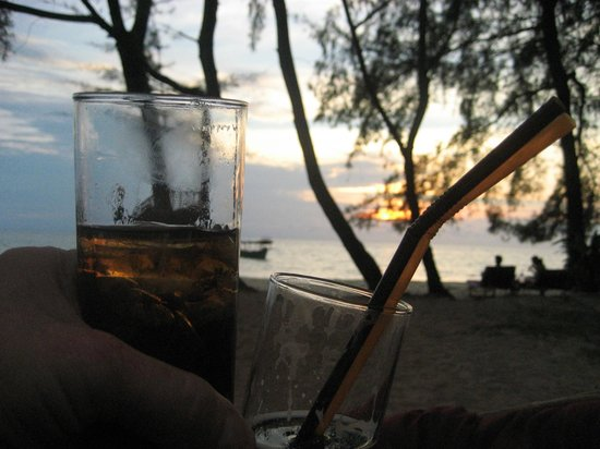 Papa Pippo Bar, Restaurant & Bungalows:                   Drinks in the sunset