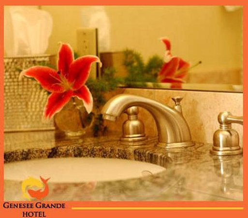 The Genesee Grande Hotel: Fine Marble Bathrooms for Syracuse Luxury Hotel
