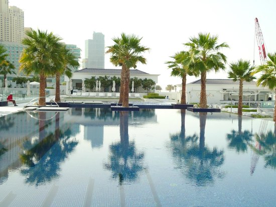The Meydan Hotel:                   Meydan beach pool area