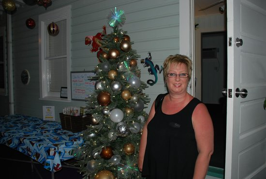 The Grand Guesthouse:                   Christmas Holidays - Stepping Into the Courtyard from our room
