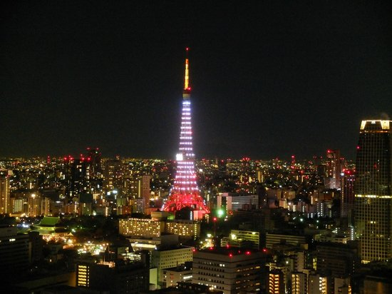 Park Hotel Tokyo:                   Night view from the room